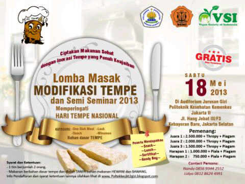 Memperingati hari Tempe Nasional, diadakan lomba kreasi tempe _=D_