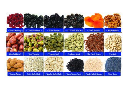 Dried fruit  nut label box