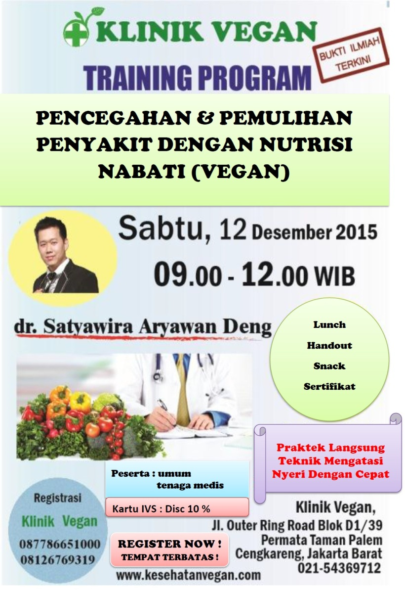 Training Program Pencegahan & Pemulihan Penyakit tgl 12 Des