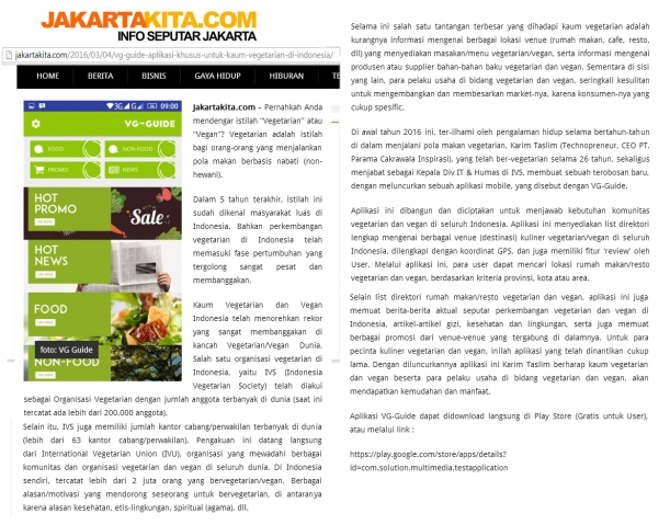Liputan Ttg VG-Guide di Jakartakita(1)
