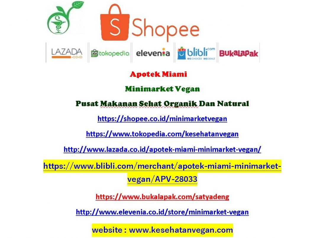 Apotek Miami Minimarket Vegan Pusat Makanan Sehat Organik Madu By Sheshe Selada Sf Natural Https Shopeecoid Minimarketvegan